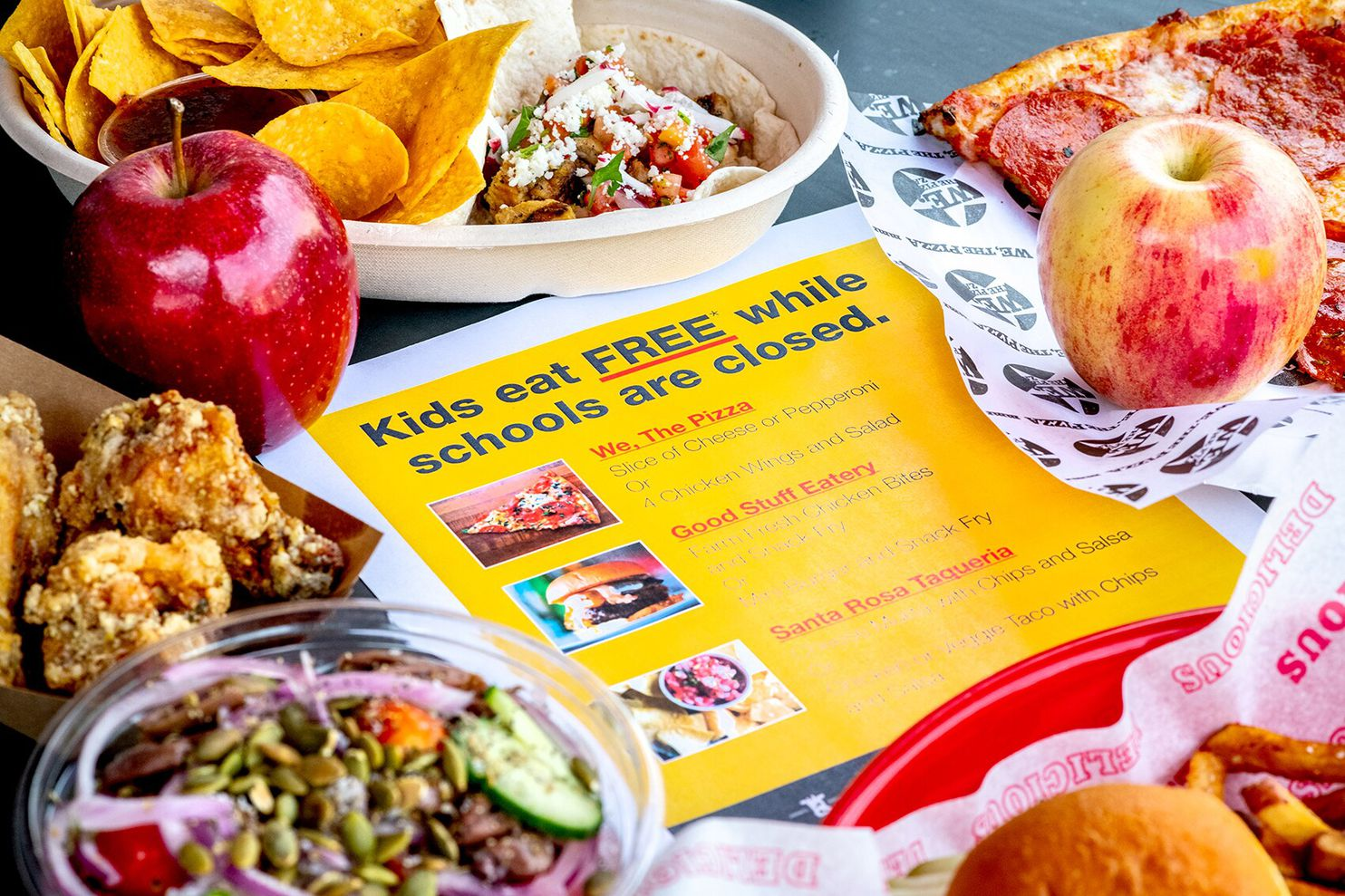 Kids eat FREE while schools are closed