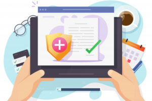 Telehealth Tips Image - health-medical-insurance-vector-paper-document-online-form-digital-patient-healthcare-medicare-risk-protection-claim_212005-342